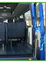 Inside Mini Bus